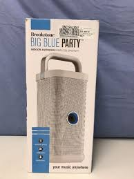 big blue party brookstone big blue party indoor outdoor bluetooth speaker ebay