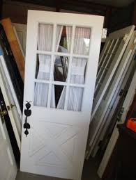 32x78 Exterior Door Antique Era Door Wheel Cut Etched Glass Window Solid