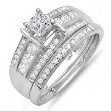 white gold wedding band sets bridal sets bridal ring sets matching diamond rings and bands