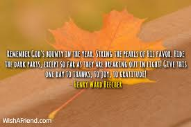 henry ward beecher quote remember god s bounty in the year string