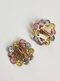 clip on earrings uk 1960s deadstock pastel clip earrings st cyr vintage