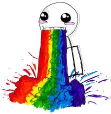 Puking Rainbow Meme - the rainbow puke guy by mango soda 470 on deviantart