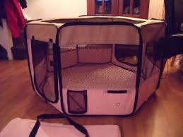 large pink indoor rabbit cage guinea dog cat pet play pen run