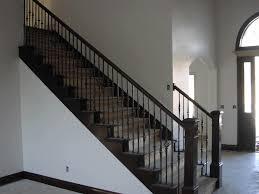 oak stair railing ideas spindles paint barn wood proper stair