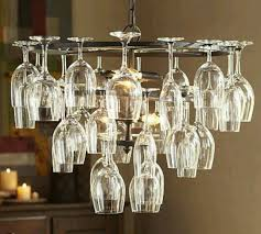 Wine Glass Chandelier Diy Pottery Barn Wine Glass Rack Chandelier This Is For My Homie