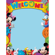 Mickey Mouse Flag Mickey Mouse Clubhhouse Welcome Poster Eureka
