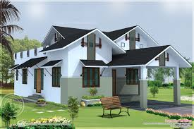 sloping roof single floor house kerala home design and floor plans
