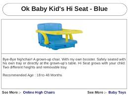 Bye Bye Baby High Chairs Baby High Chairs