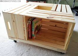 Wine Crate Coffee Table Diy by Mon Makes Things Storage Ottoman Diy