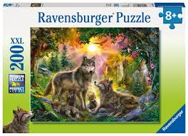 ravensburger puzzle wolf family in the sun 200