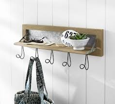Pottery Barn Shelf With Hooks Seadrift Modular System Row Of Hooks Pottery Barn