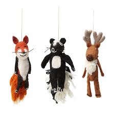 woodland animals finger puppet ornaments child s gift