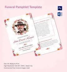 5 funeral pamphlet templates word psd format download free