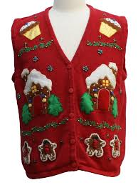 womens ugly christmas sweater vest bobbie womens red