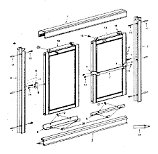 Framed Shower Door Replacement Parts Sears Tub Shower Door Parts Model 392681040 Sears Partsdirect