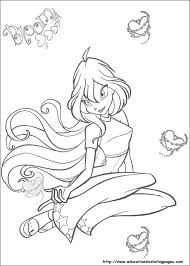 winx club coloring pages free kids