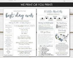 programs for wedding wedding programs etsy