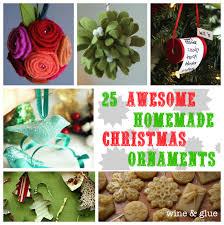 christmas ornaments wine u0026 glue
