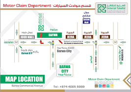 Doha Qatar Map General Takaful