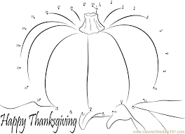 events happy thanksgiving day dot to dot printable worksheet