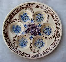 pesach plate pesach plate passover plate made of painted ceramic konforty