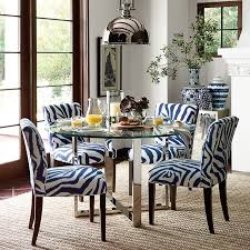 Circular Dining Room Tables - mercer round dining table with glass top williams sonoma