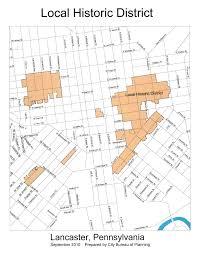 Lancaster Map Historic District City Of Lancaster