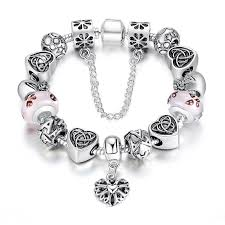 european charm bracelet with for 3 designs jusgift