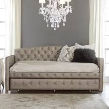 Diamond Tufted Sofa Hillsdale Memphis Bed Upholstered Daybed With Diamond Tufting