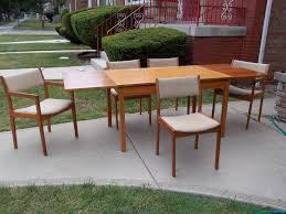 mid century teak dining table and chairs chair modern concept mid