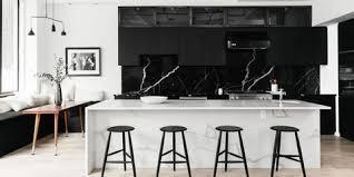 white kitchen cupboards black bench 26 gorgeous black white kitchens ideas for black white