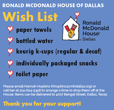 List Of Things To Buy When Moving Into A New House by Wish List Ronald Mcdonald House Of Dallas