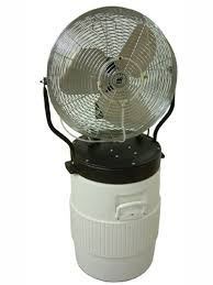 battery operated misting fan this portable misting fan fits on an igloo 10 gallon round water