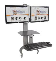 dual monitor stand up desk dual monitor standing desk dual monitor adjustable standing desk