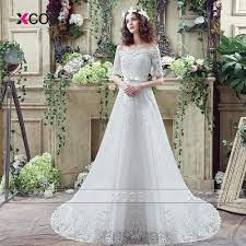 greek country style wedding dresses lace half sleeve a line