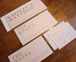 gold foil wedding invitations blush gold foil wedding invitation stock st