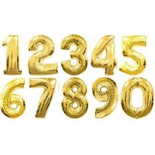 foil balloons 16 inch gold numbers foil balloons 0 9 from category numbers