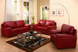 Red Livingroom by Casual Leather Sofa Set For Living Room Designs Ideas U0026 Decors