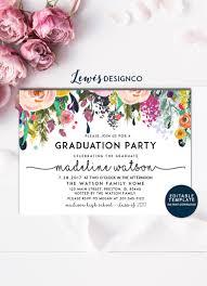 House Invitation Card Graduation Party Invitation High Graduation Invite