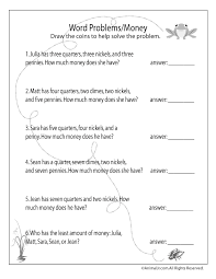 money word problems free printable worksheet grade 2 time