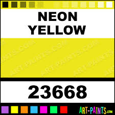 Best Color Codes by Neon Yellow Artist Acrylic Paints 23668 Neon Yellow Paint