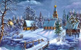 christmas snow photos village in snow wallpaper holiday