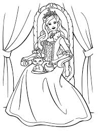 printable barbie fashion coloring pages bltidm