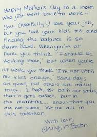 these handwritten mother u0027s day letters prove moms have each