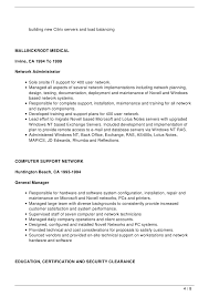 Sample Resume For Network Administrator by Download Novell Certified Network Engineer Sample Resume
