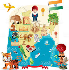 Bhopal India Map by Cartoon Map Of India Stock Vector Art 472290809 Istock