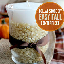 dollar store diy thanksgiving decoration idea fall centerpiece