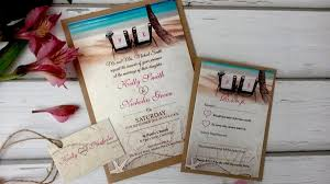 tropical themed wedding invitations themed wedding invitations personalised with twine rsvp