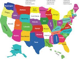 Map Of The United States And Mexico by Map Of The 50 States Of The United States Usa State Capitals Song
