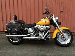 2011 harley davidson softail fatboy with bright yellow paint color